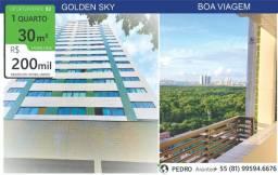 DPA| 30 m²| Flat| Boa Viagem| Andar Alto| quarto e sala separado;