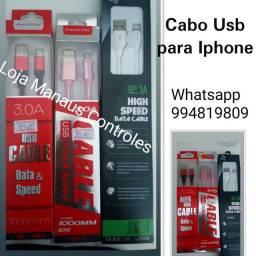 Cabo USB para Iphone( Loja Manaus Controles)
