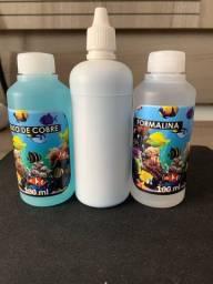 Fufato de cobre e formalina para aquário marinho