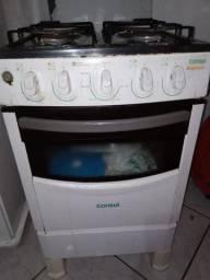 Fogão 4 bocas, forno elétrico e armário