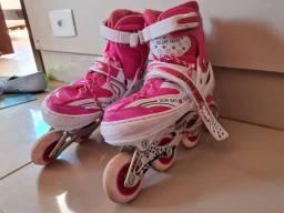 Patins inline skate, com rodas com Luz led colorida, numero 38 ao 41