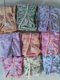 Pijamas em malha fria do RN até 14 anos.