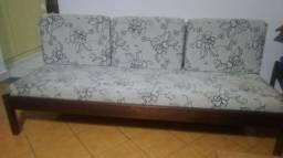 Título do anúncio: Conjunto de sofá madeira de lei