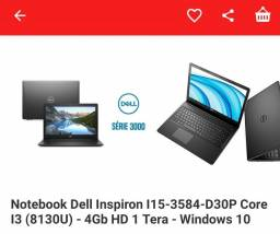 Vendo notebook Dell com NF