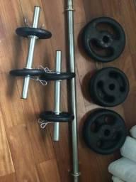 40kg de anilha e barras