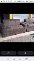 Conjuntos novos = sofás lindos e macios frete grátis