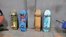 Título do anúncio: Skate diversos modelos, 4 ou 2 rodas, em bom estado. E outros.