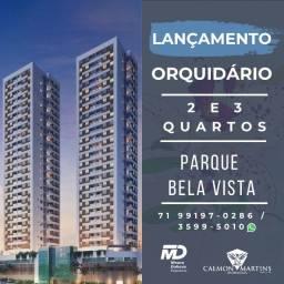 Lançamento espetacular, Orquidário - Apartamento com 2/4 suíte e varanda
