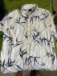 Camisa branca floral G