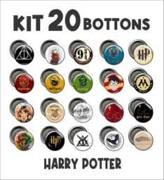 Kit com 20 bottons Harry Potter