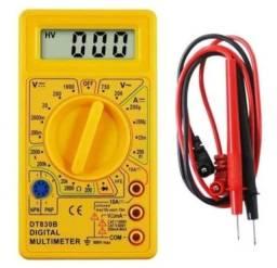 Título do anúncio: Multímetro Digital  D-t830b Portátil Profissional + Bateria  Pronta Entrega