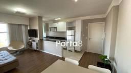 Apto mobiliado no Spazio Blu de 1 dormitório para alugar, 55 m² por R$ 1.800/mês - Bom Jar