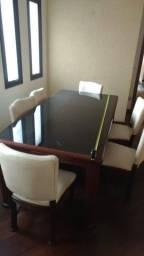 Mesa com tampo de vidro fumê (Oferta Imperdível!)