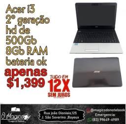 Notebook Acer i3 HD 500 8Gb Ram