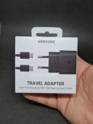 Carregador Samsung Carga Rápida Entrada USB-C - com Cabo USB-C 1m