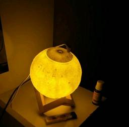 Luminária Lua Umidificador Aromatizador 880ml Premium