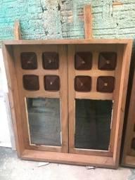 2 janelas de madeira CEDRO