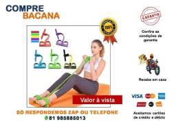 Extensor Elástico Exercício Malhação Treino Musculação Trimmer body