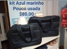 Kit azul marinho pouco usada