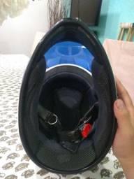 Vendo capacete Bieffe equipe BR azul