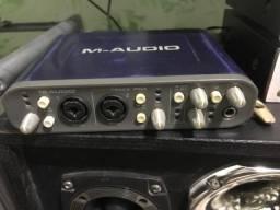Placa de som m-audio fasttrack pro