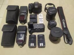 Câmera Canon t2i, Flash Canon, Lentes Canon