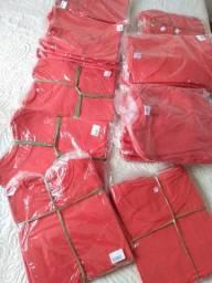 Lote de camisetas vermelhas 100% Algodão