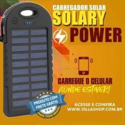 Super Carregador Solar Portátil