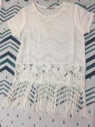 Short e túnica branca