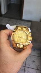 3a2d7310c2f Relogio Invicta lançamento dourado novo
