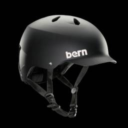Capacete Bern Summer Watts Thin Shell Preto Fosco (Skate, patins, bicicleta, etc.)