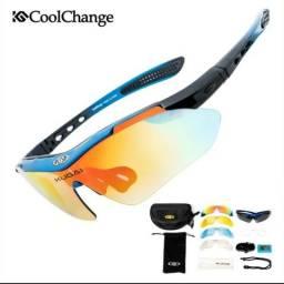 Óculos esportivo rockbross 5 lentes 1 polarizada.