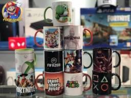 Título do anúncio: Canecas Gamer Personalizadas de Cerâmicas a Pronta Entrega e Excelente Preço