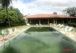 Chácara no Eusébio, casa plana com 600m², 5 suítes, 20 vagas, piscina, terreno com 5.200m²