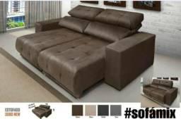 Lindo sofá retrátil e reclinável