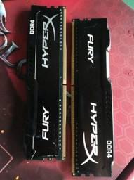 Memória Ram HyperX Fury DDR4 2133Mhz 2x4 =8Gb