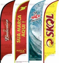 Wind banner com base plástica