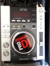 Par Cdj-200 Pionner + Mixer Behringer Djx700 + Case Completo<br><br>