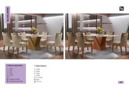 Mesa kioto com 6 cadeiras *
