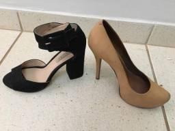 4 sapatos semi novos - R$ 20,00 cada