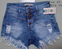 Shortinho jeans de alta qualidade