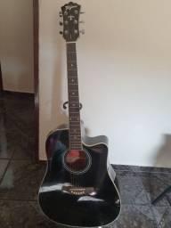 Violão Tagima Kansas Folk Elétrico Preto Com Afinador