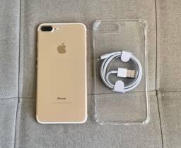 IPhone 7 Plus 32gb Gold Bateria 100% - Aceito Cartão