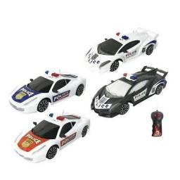 Carro Controle Remoto Polícia 3 Funções Brinquedo