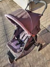carrinho de bebê - marca abc design - cinza - otimo estado