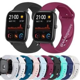 Pulseira Smartwatch 20mm (Silicone)