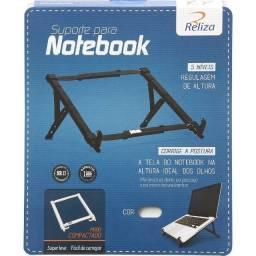 Suporte Para Notebook Regulável Preto Abs Reliza -Entrega grátis
