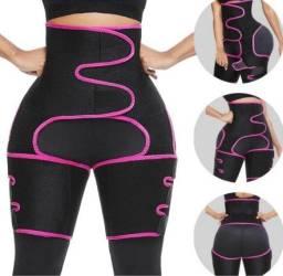 Título do anúncio: Cinta Térmica Feminina Cintura Coxa Bumbum Ajustável 3 Em 1 Fitness Exercícios(a101)