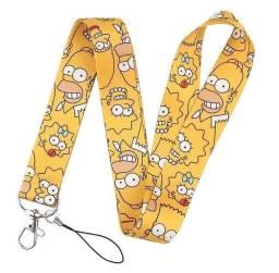 Tirante Cordão Crachá Simpsons Amarelo