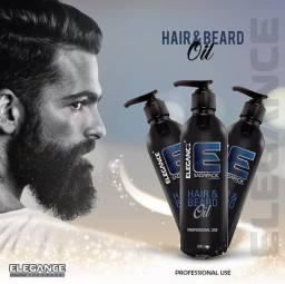 Óleo hidratante Elegance para barba / macia cheirosa e hidratada